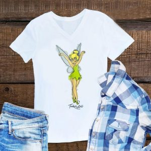 Disney Peter Pan Tinker Bell Watercolor Sketch shirt