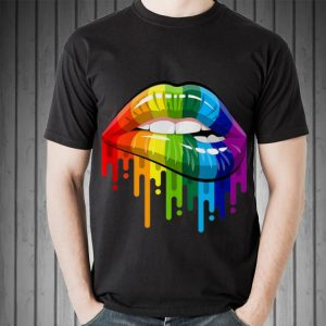Lgbt Rainbow Lips Pride for Gay Homosexual Lesbian