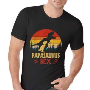 Papas Saurus T-rex Dinosaur Fathers Day shirt