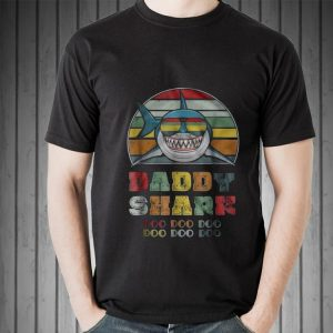 Vintage Daddy Shark Doo Doo Doo Father day shirt