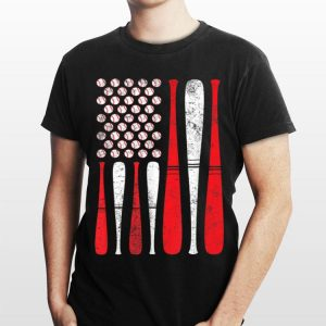 4th July American Flag Baseball Team shirt