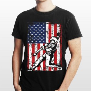 4th Of July American Flag Baseball Softball Player shirt