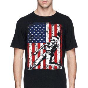 4th Of July American Flag Baseball Softball Player shirt