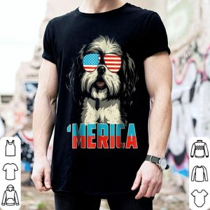 4th Of July Patriot Shih Tzu Merica American Flag shirt