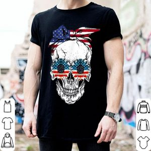 4th Of July Skull American Flag Independence Day shirt