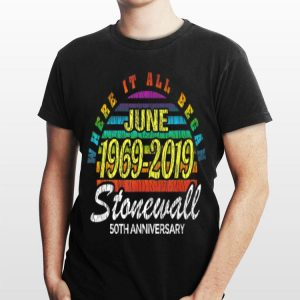 50th Anniversary Stonewall June 1969 2019 Lbgtq Gay Pride shirt