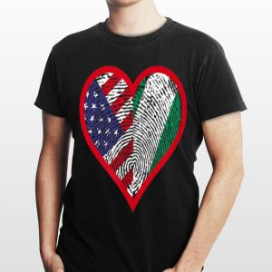 America And Nigeria Two Countries One Heart shirt