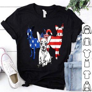 American Chihuahua Patriotic US Flag 4th Of July shirt