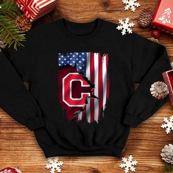American Flag Cleveland Indians MLB Mashup shirt