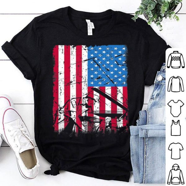 American Flag Patriotic Mechanic Job shirt