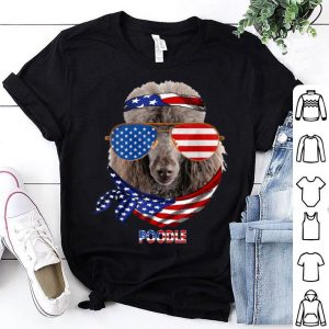 American Flag Poodle Dog Lover shirt