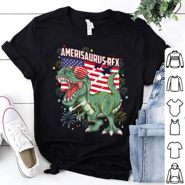 Amerisaurusrex Dinosaur 4th Of July American Flag shirt
