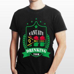 Beer Vanuatu Drinking Team Casual Vanuatu Flag shirt