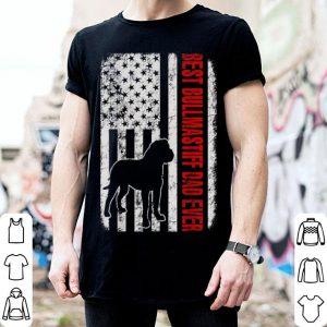 Best Bullmastiff Dad Ever American Flag shirt