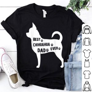 Best Chihuahua Dog Dad Ever American Flag shirt