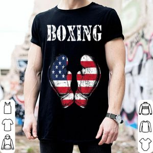 Boxing Gloves American Flag 4th of July shirt