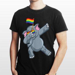 Dabbing Elephant Gay Pride Flag Lgbt Pride shirt