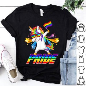 Dabbing Unicorn Lgbt Gay Pride Star shirt