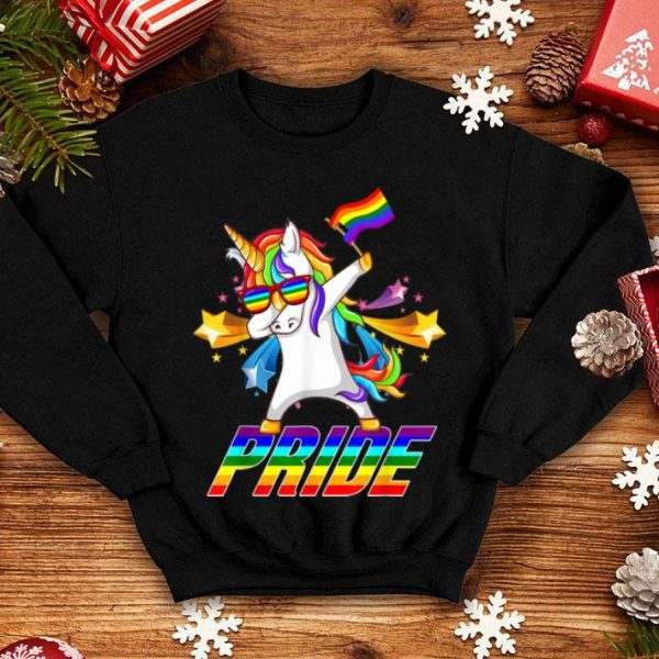 Dabbing Unicorn Lgbt Gay Pride Star shirt