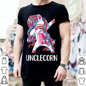 Dabbing Unicorn Unclecorn 4th Of July Fathers Day shirt