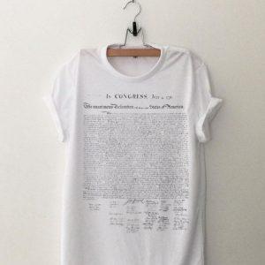 Declaration of USA Independence shirt