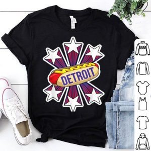 Detroit Hot Dog 4th of July USA Patriotic Pride shirt