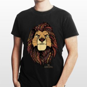 Disney Lion King Simba Ornate Geometric Pattern Portrait shirt