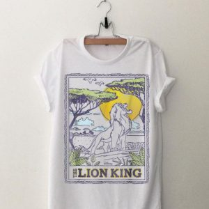 Disney Lion King Simba Pride Rock Poster Style shirt