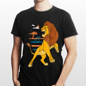 Disney The Lion King Adult Simba Roaring Pride Lands shirt