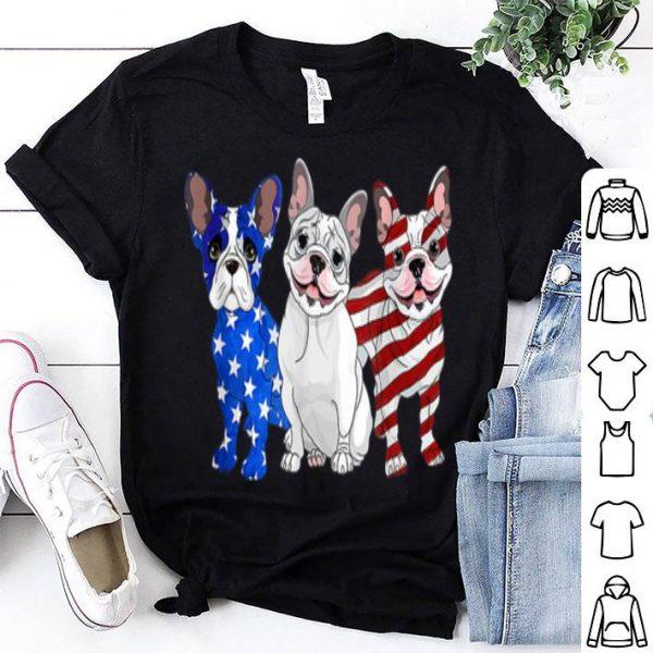 French Bulldog American Flag Patriotic Dog shirt