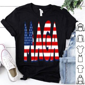 MAGA Pro Donald Trump 2020 American Flag 4th Of July shirt