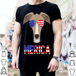 Merica Greyhound 4th Of July Patriotic dog shirt