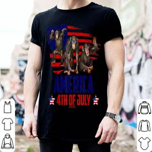 Monkey Patriotic American 4th Of July shirt