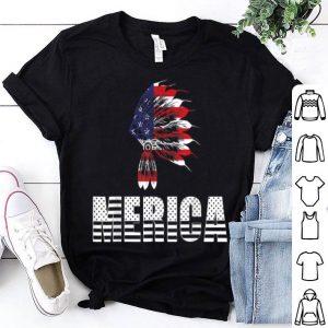 Native American 4th Of July Merica American Flag shirt