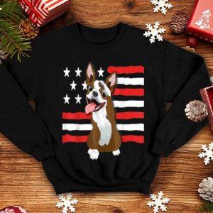 Patriotic Red Boston Terrier Celebrate USA shirt