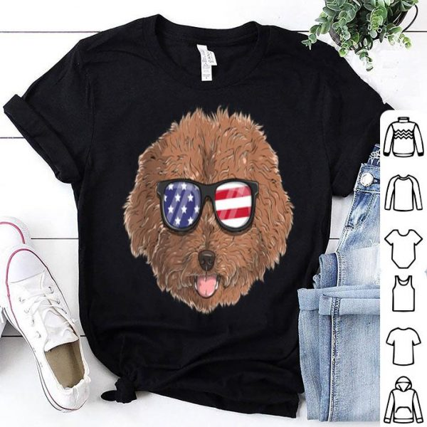 Poodle Dog Patriotic Usa 4th Of July American shirt