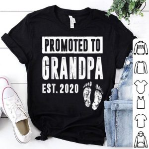 Promoted To Grandpa Est 2020 Father Day shirt