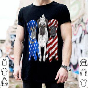 Pug Patriotic American Flag 4th Of July shirt