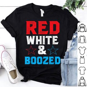 Red White and Boozed 4th of July shirt