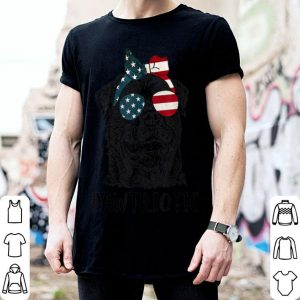 Rottweiler Pawtriotic With American Flag 4th Of July shirt