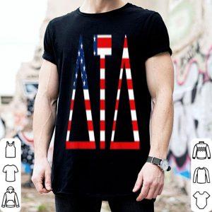Tau Delta Greek Letters American Flag shirt