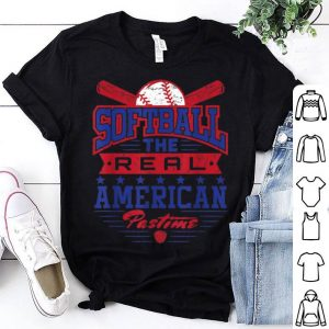 The Real American Pastime Patriotic Softball American Flag shirt