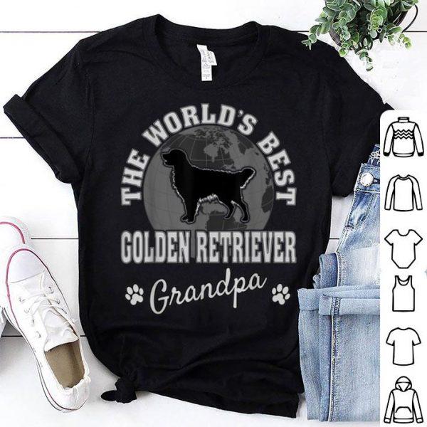 The World's Best Golden Retriever Grandpa Father Day shirt