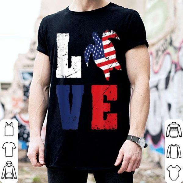Turtle Love American Flag Fourth Of July shirt