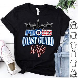 USA Proud Coast Guard Wife USA Flag Military shirt