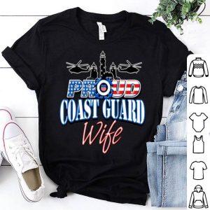 USA Proud Coast Guard Wife USA Flag Military shirt