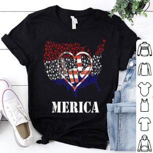 Usa Flag Asl Sign Heart Flag Day Love shirt
