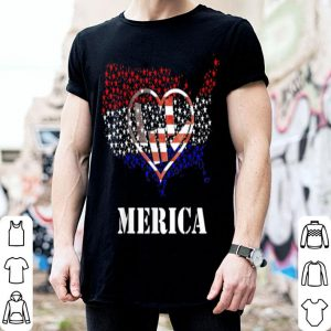 Usa Flag Asl Sign Heart Flag Day Love shirt