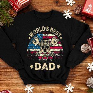 World Best Mechanic Dad 4th Of July American Flag shirt