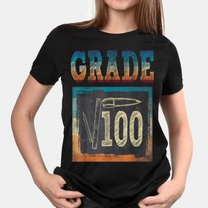 10th Grade Back To School Square Root Of 100 Math shirt